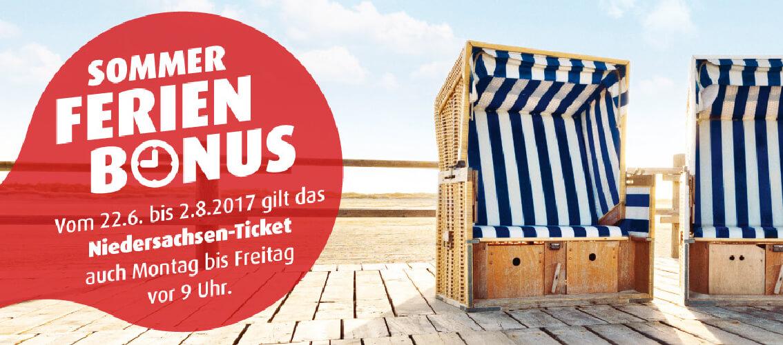 Sommerferien Bonus Nutzen Sie Das Niedersachsen Ticket Schon Vor 9